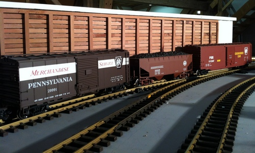 G Scale Layout PRR Freight Train LGB Aristo USA Trains